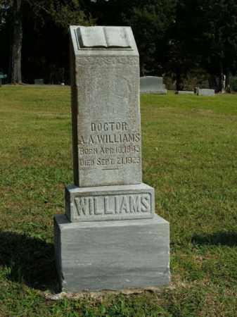 WILLIAMS, DOCTOR A A - Pulaski County, Arkansas | DOCTOR A A WILLIAMS - Arkansas Gravestone Photos