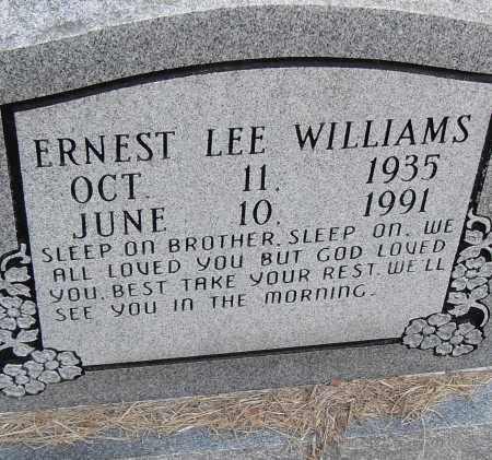 WILLIAMS, ERNEST LEE - Pulaski County, Arkansas | ERNEST LEE WILLIAMS - Arkansas Gravestone Photos