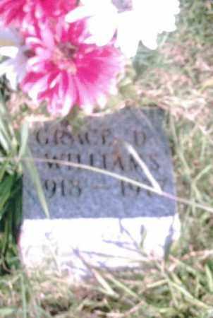 WILLIAMS, GRACE D. - Pulaski County, Arkansas   GRACE D. WILLIAMS - Arkansas Gravestone Photos