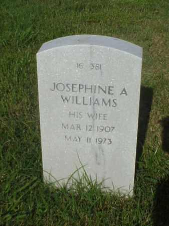 WILLIAMS, JOSEPHINE A - Pulaski County, Arkansas | JOSEPHINE A WILLIAMS - Arkansas Gravestone Photos