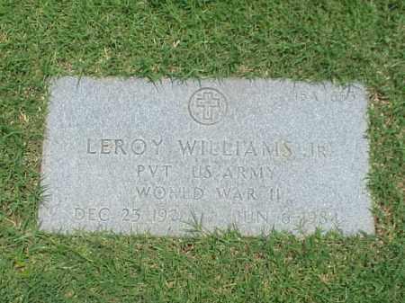 WILLIAMS, JR (VETERAN WWII), LEROY - Pulaski County, Arkansas | LEROY WILLIAMS, JR (VETERAN WWII) - Arkansas Gravestone Photos