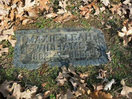 WILLIAMS, MAXIE LEAH - Pulaski County, Arkansas | MAXIE LEAH WILLIAMS - Arkansas Gravestone Photos