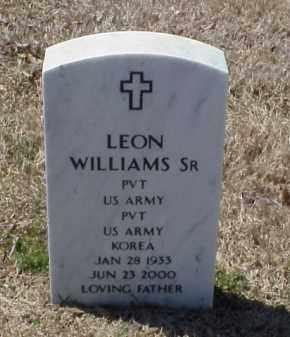 WILLIAMS, SR (VETERAN KOR), LEON - Pulaski County, Arkansas   LEON WILLIAMS, SR (VETERAN KOR) - Arkansas Gravestone Photos