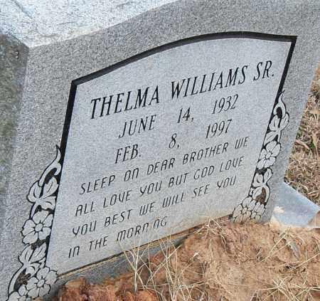 WILLIAMS SR, THELMA - Pulaski County, Arkansas | THELMA WILLIAMS SR - Arkansas Gravestone Photos