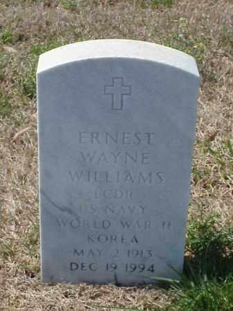 WILLIAMS (VETERAN 2 WARS), ERNEST WAYNE - Pulaski County, Arkansas | ERNEST WAYNE WILLIAMS (VETERAN 2 WARS) - Arkansas Gravestone Photos
