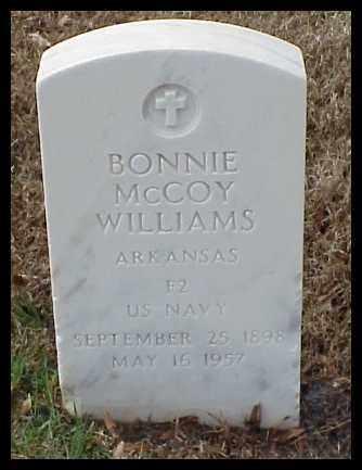 MCCOY WILLIAMS (VETERAN), BONNIE - Pulaski County, Arkansas | BONNIE MCCOY WILLIAMS (VETERAN) - Arkansas Gravestone Photos