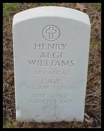 WILLIAMS (VETERAN), HENRY ALGI - Pulaski County, Arkansas | HENRY ALGI WILLIAMS (VETERAN) - Arkansas Gravestone Photos