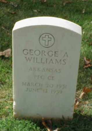 WILLIAMS (VETERAN KOR), GEORGE A - Pulaski County, Arkansas | GEORGE A WILLIAMS (VETERAN KOR) - Arkansas Gravestone Photos