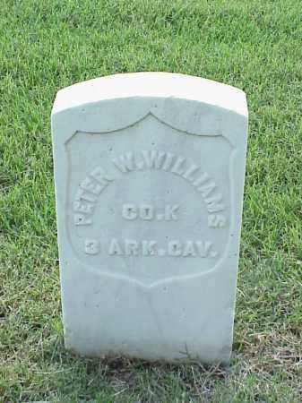 WILLIAMS (VETERAN UNION), PETER W - Pulaski County, Arkansas | PETER W WILLIAMS (VETERAN UNION) - Arkansas Gravestone Photos