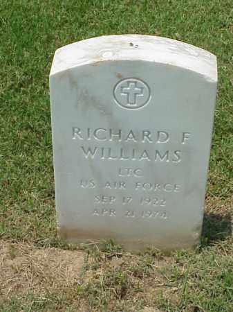 WILLIAMS (VETERAN WWII), RICHARD F - Pulaski County, Arkansas | RICHARD F WILLIAMS (VETERAN WWII) - Arkansas Gravestone Photos