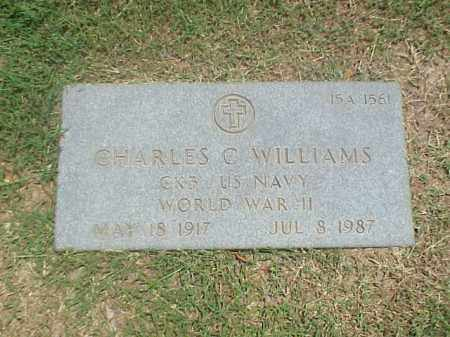 WILLIAMS (VETERAN WWII), CHARLES C - Pulaski County, Arkansas | CHARLES C WILLIAMS (VETERAN WWII) - Arkansas Gravestone Photos