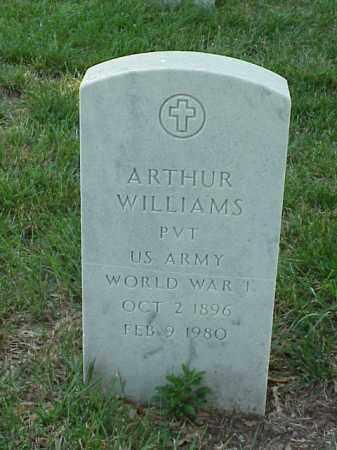 WILLIAMS (VETERAN WWI), ARTHUR - Pulaski County, Arkansas | ARTHUR WILLIAMS (VETERAN WWI) - Arkansas Gravestone Photos