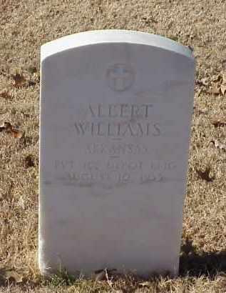 WILLIAMS (VETERAN WWI), ALBERT - Pulaski County, Arkansas   ALBERT WILLIAMS (VETERAN WWI) - Arkansas Gravestone Photos