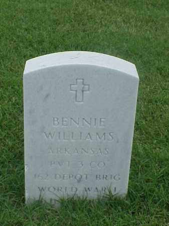WILLIAMS (VETERAN WWI), BENNIE - Pulaski County, Arkansas | BENNIE WILLIAMS (VETERAN WWI) - Arkansas Gravestone Photos