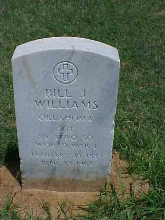 WILLIAMS (VETERAN WWI), BILL J - Pulaski County, Arkansas | BILL J WILLIAMS (VETERAN WWI) - Arkansas Gravestone Photos