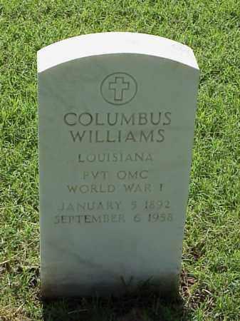 WILLIAMS (VETERAN WWI), COLUMBUS - Pulaski County, Arkansas   COLUMBUS WILLIAMS (VETERAN WWI) - Arkansas Gravestone Photos