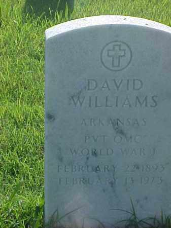 WILLIAMS (VETERAN WWI), DAVID - Pulaski County, Arkansas | DAVID WILLIAMS (VETERAN WWI) - Arkansas Gravestone Photos