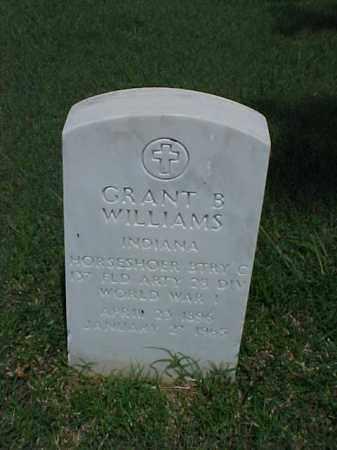 WILLIAMS (VETERAN WWI), GRANT B - Pulaski County, Arkansas   GRANT B WILLIAMS (VETERAN WWI) - Arkansas Gravestone Photos