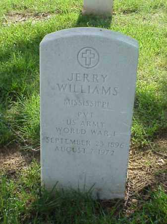WILLIAMS (VETERAN WWI), JERRY - Pulaski County, Arkansas | JERRY WILLIAMS (VETERAN WWI) - Arkansas Gravestone Photos