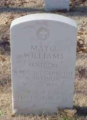 WILLIAMS (VETERAN WWI), MAYO - Pulaski County, Arkansas | MAYO WILLIAMS (VETERAN WWI) - Arkansas Gravestone Photos