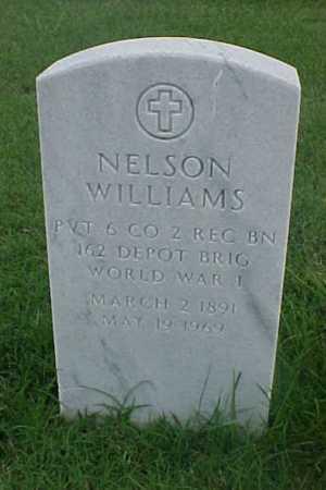 WILLIAMS (VETERAN WWI), NELSON - Pulaski County, Arkansas   NELSON WILLIAMS (VETERAN WWI) - Arkansas Gravestone Photos