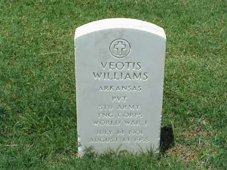 WILLIAMS (VETERAN WWI), VEOTIS - Pulaski County, Arkansas   VEOTIS WILLIAMS (VETERAN WWI) - Arkansas Gravestone Photos