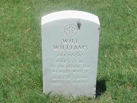 WILLIAMS (VETERAN WWI), WILL - Pulaski County, Arkansas   WILL WILLIAMS (VETERAN WWI) - Arkansas Gravestone Photos