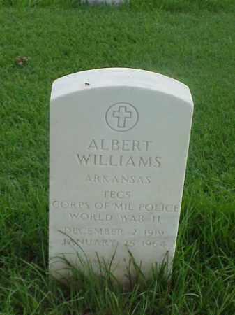 WILLIAMS (VETERAN WWII), ALBERT - Pulaski County, Arkansas   ALBERT WILLIAMS (VETERAN WWII) - Arkansas Gravestone Photos