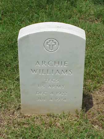 WILLIAMS (VETERAN WWII), ARCHIE - Pulaski County, Arkansas   ARCHIE WILLIAMS (VETERAN WWII) - Arkansas Gravestone Photos