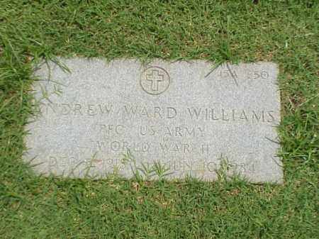 WILLIAMS (VETERAN WWII), ANDREW WARD - Pulaski County, Arkansas | ANDREW WARD WILLIAMS (VETERAN WWII) - Arkansas Gravestone Photos