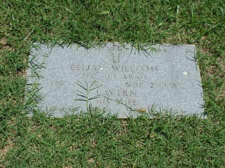 WILLIAMS (VETERAN WWII), ELIJAH - Pulaski County, Arkansas | ELIJAH WILLIAMS (VETERAN WWII) - Arkansas Gravestone Photos