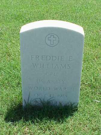 WILLIAMS (VETERAN WWII), FREDDIE E - Pulaski County, Arkansas | FREDDIE E WILLIAMS (VETERAN WWII) - Arkansas Gravestone Photos