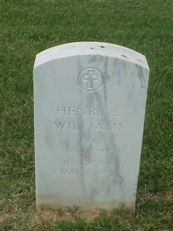 WILLIAMS (VETERAN WWII), HENRY L - Pulaski County, Arkansas | HENRY L WILLIAMS (VETERAN WWII) - Arkansas Gravestone Photos