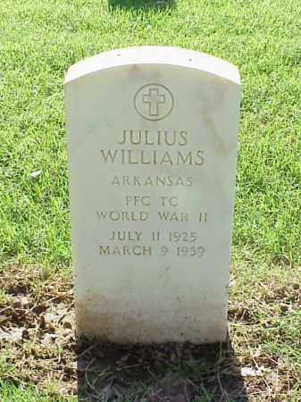 WILLIAMS (VETERAN WWII), JULIUS - Pulaski County, Arkansas   JULIUS WILLIAMS (VETERAN WWII) - Arkansas Gravestone Photos
