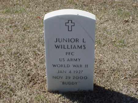 WILLIAMS (VETERAN WWII), JUNIOR L - Pulaski County, Arkansas | JUNIOR L WILLIAMS (VETERAN WWII) - Arkansas Gravestone Photos