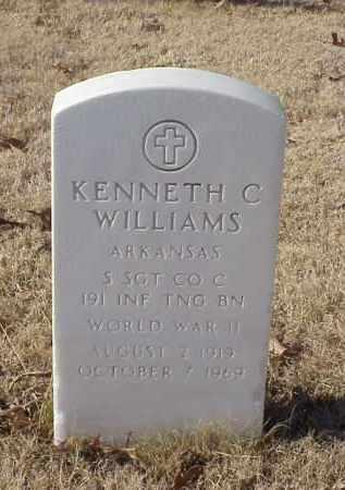 WILLIAMS (VETERAN WWII), KENNETH C - Pulaski County, Arkansas | KENNETH C WILLIAMS (VETERAN WWII) - Arkansas Gravestone Photos