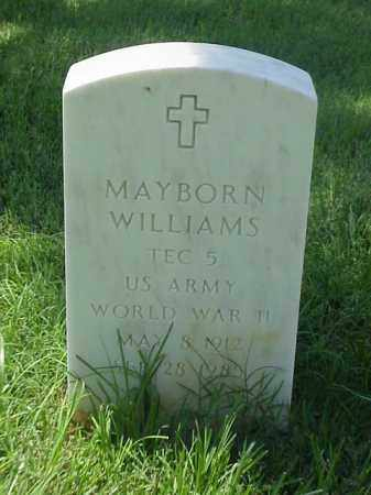 WILLIAMS (VETERAN WWII), MAYBORN - Pulaski County, Arkansas | MAYBORN WILLIAMS (VETERAN WWII) - Arkansas Gravestone Photos