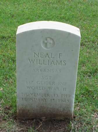 WILLIAMS (VETERAN WWII), NEAL F - Pulaski County, Arkansas   NEAL F WILLIAMS (VETERAN WWII) - Arkansas Gravestone Photos