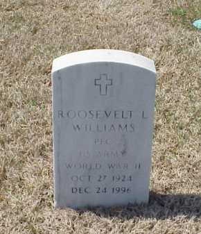 WILLIAMS (VETERAN WWII), ROOSEVELT L - Pulaski County, Arkansas | ROOSEVELT L WILLIAMS (VETERAN WWII) - Arkansas Gravestone Photos