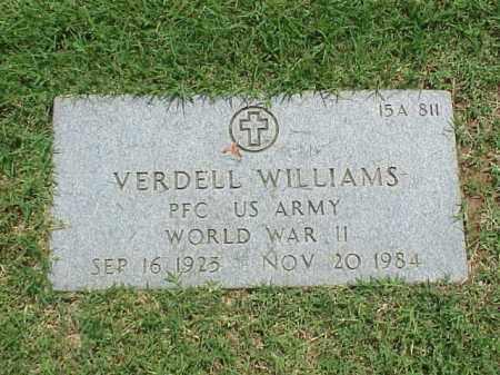 WILLIAMS (VETERAN WWII), VERDELL - Pulaski County, Arkansas | VERDELL WILLIAMS (VETERAN WWII) - Arkansas Gravestone Photos