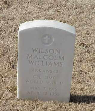 WILLIAMS (VETERAN WWII), WILSON MALCOLM - Pulaski County, Arkansas | WILSON MALCOLM WILLIAMS (VETERAN WWII) - Arkansas Gravestone Photos