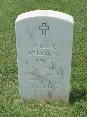 WILLIAMS (VETERAN WWII), WILLIE - Pulaski County, Arkansas | WILLIE WILLIAMS (VETERAN WWII) - Arkansas Gravestone Photos
