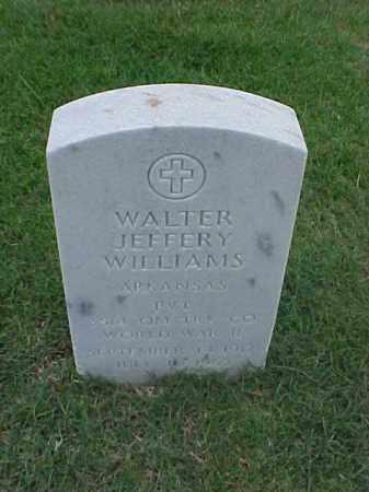 WILLIAMS (VETERAN WWII), WALTER JEFFERY - Pulaski County, Arkansas | WALTER JEFFERY WILLIAMS (VETERAN WWII) - Arkansas Gravestone Photos