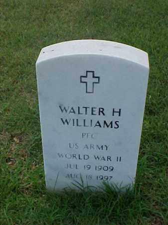 WILLIAMS (VETERAN WWII), WALTER H - Pulaski County, Arkansas | WALTER H WILLIAMS (VETERAN WWII) - Arkansas Gravestone Photos