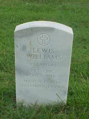 WILLIAMS (VETERAN WWI), LEWIS - Pulaski County, Arkansas | LEWIS WILLIAMS (VETERAN WWI) - Arkansas Gravestone Photos