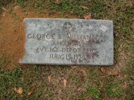 WILLIAMSON (VETERAN), GEORGE B - Pulaski County, Arkansas   GEORGE B WILLIAMSON (VETERAN) - Arkansas Gravestone Photos