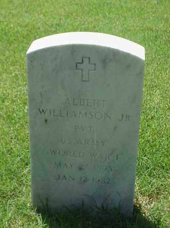 WILLIAMSON, JR (VETERAN WWI), ALBERT - Pulaski County, Arkansas | ALBERT WILLIAMSON, JR (VETERAN WWI) - Arkansas Gravestone Photos