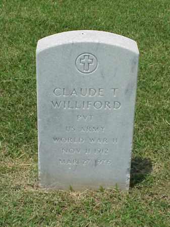 WILLIFORD (VETERAN WWII), CLAUDE T - Pulaski County, Arkansas   CLAUDE T WILLIFORD (VETERAN WWII) - Arkansas Gravestone Photos