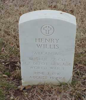 WILLIS  (VETERAN WWI), HENRY - Pulaski County, Arkansas | HENRY WILLIS  (VETERAN WWI) - Arkansas Gravestone Photos