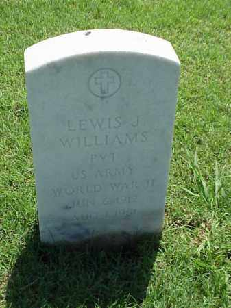 WILLIAMS (VETERAN WWII), LEWIS J - Pulaski County, Arkansas | LEWIS J WILLIAMS (VETERAN WWII) - Arkansas Gravestone Photos